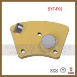 De Schraper van het trapezoïde PCD, Concrete Vloer die PCD EpoxyVlekkenmiddel met een laag bedekken