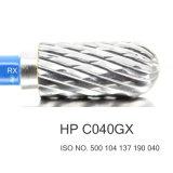 HP de poca velocidad C040GX de Burs Burs del laboratorio dental del tungsteno del cortador del carburo del CNC del corte de la cruz