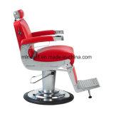 Красная сверхмощная мебель салона крома стула парикмахера множественная