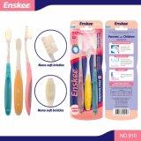Взрослый зубная щетка с Nano щетинками 3 в родителях 1 & пакете 910-Qz ребенка