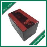 Het Vakje van de Wijn van het Karton van het document voor de Verpakking van de Gift van de Wijn