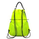 Gimnasia resistente grande Sackpack de agua del bolso de lazo con los bolsillos Esg10241