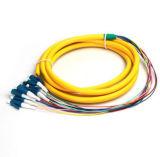 12 tresse uni-mode de fibre optique des faisceaux LC/Upc