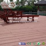Decking de composite à haute performance utilisé dans l'horizontal de jardin avec l'aluminium