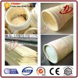 ISO9001 garantizado Nomex con PTFE terminado bolsa filtrante utilizado en la planta de asfalto