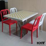 Tabella di pranzo di superficie solida degli alimenti a rapida preparazione della mobilia della sala da pranzo