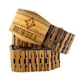 Correa de madera de la insignia de los hombres de encargo de la manera de China