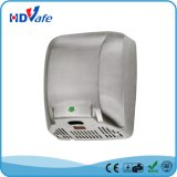 alta resistencia Secador de manos automático de acero inoxidable con Aire Caliente Ventilador de mano