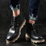 Мужские туфли кожаные туфли Мартин зимний мужской прилива кожаную обувь приспособления для британских мужчин повседневная обувь Мартин загружается
