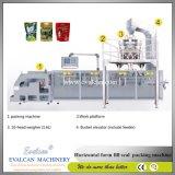 自動水平の流れ形式の盛り土のシールの磨き粉のコーヒー粉のための満ちるパッキング装置機械