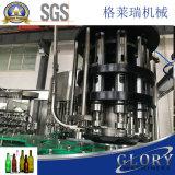 Máquina de rellenar del vino de la botella de cristal con capsular de la corona