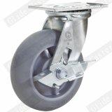 Rodízio fixo resistente de TPR (cinzento) (G4307D)