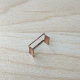 OEM het Metaal dat van de Douane de Kleine Klem van de Lente van de Vorm van U van het Koper van 0.4mm stempelt