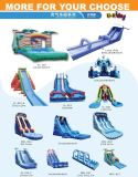 Теме океана надувные водные горки надувные влажных сдвиньте игрушка воды для бассейна или на пляже