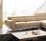 Nova chegada L sofá de couro de forma moderna sala de estar Sofá 713#