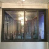 Окно оптовой низкой цены фабрики алюминиевое сползая с двойным стеклом