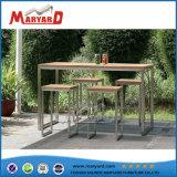 LED bar Le Mobilier de salle à manger en bois de plein air Tableau établi pour la vente