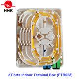 Coffret d'extrémité d'intérieur de 2 ports (PTB028)