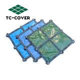 Seguridad de malla de polipropileno cubierta de piscina piscina sobre el suelo
