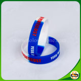 Pure Silicone Custom Silicone Bracelet with Debossed Logo