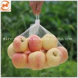 Sac de maille de légumes pour le poivron vert 65cm de couleur blanche