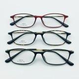 De semi Plastic Oogglazen Eyewear van de Frames van het Ontwerp van de Manier van het Staal Nieuwe Optische met de Tempel van het Metaal