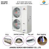 Acqua sanitaria 3kw, 5kw, 7kw, 9kw tipo spaccato pompa termica di sorgente di aria (CE, CB, TUV, EN14511, certificato di Dhw 60deg c della famiglia dell'Australia)