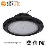 Baia approvata del UFO di ETL&FCC 150W LED l'alta illumina l'indicatore luminoso industriale del LED