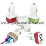 заряжатель автомобиля USB 3-Port 2.1 AMP голодает зарядный кабель