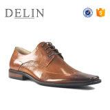 Diseñador de zapatos de cuero auténtico lujo para hombres