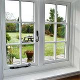 알루미늄 프레임 여닫이 창 그네 유리창은 목욕탕 그네 프랑스 여닫이 창 Windows를 이중 유리를 끼웠다
