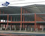 プレハブの鉄骨構造の倉庫50年の寿命の金属の鋼鉄材料の