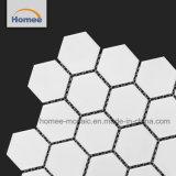 La porcelana Backsplash cocina azulejos de cerámica blanca mosaico Mosaico hexagonal
