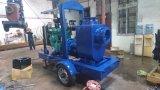 Haute capacité moteur Diesel à amorçage automatique de la pompe de la corbeille avec remorque