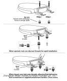 Les vis d'extension de la charnière pour le PP haut siège de toilette