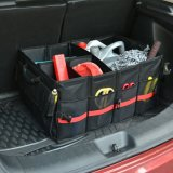 車の収納箱の防水黒い携帯用を折るLantsun J289はツールのオルガナイザーの記憶のホールダーの貨物袋をマルチ使用する