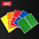 Пользовательские метки прямоугольник цветные Самоклеющиеся наклейки