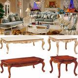 La mobilia del salone con il sofà di legno del tessuto ha impostato (510E)
