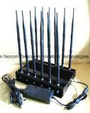 Inalámbrico de alta potencia de 3G 4G WiFi teléfono CDMA GSM Señal Jammer / Bloqueador de bombas, aislante de la señal de teléfono móvil