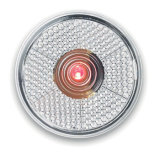 مستديرة يخزر أحمر [لد] ضوء مع مشبك خلفيّة مع صنع وفقا لطلب الزّبون علامة تجاريّة