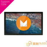 """15.6 """" pantallas táctiles con pilas embutidas androides del montaje de la pared"""