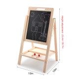 Деревянные двойные съемной подставкой Easel Stand детей магнитной записи чертежа платы мелом Детские игрушки