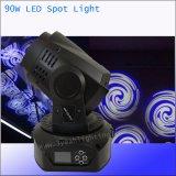Iluminación de escenarios mini cabezal movible LED 90W luz