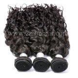 100% прав бразильских волосы в воде кривой