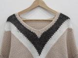 À la mode de mélange de couleurs occasionnel Mesdames pullover en tricot