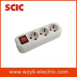 (YK424) het Aanaarden van 3 Manier de ElektroContactdoos van de Uitbreiding met Schakelaar