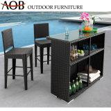 Contemporary meubles de jardin en rotin Table Tabouret de bar en osier ensembles haute