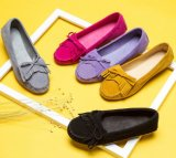 Pattini casuali comodi degli appartamenti delle donne della nappa di Bowknot dei pattini dei piselli
