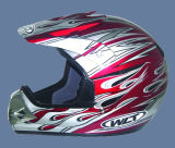 De Helm van de motor (121-Yellow&Red)