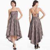 Phoebe Blumenspitze-Strappy High-Low Kleid
